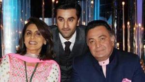 Ranbir Kapoor, Rishi Kapoor and Neetu Singh have worked together in Besharam.