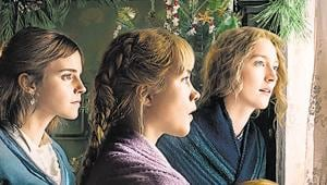 Eliza Scanlen, Saoirse Ronan, Emma Watson and Florence Pugh in a poster of the soon-to-be released film,