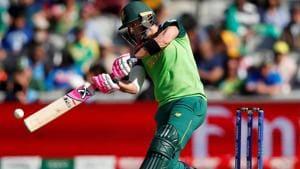 South Africa's Faf du Plessis hits a shot.(Action Images via Reuters)