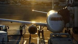 In this Dec. 8, 2018, file photo a worker fuels a Delta Connection regional airlines passenger jet at Logan International Airport in Boston. Image used for representational purpose only.(AP)