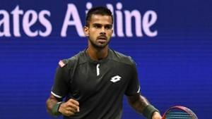 File image of India tennis player Sumit Nagal.(Danielle Parhizkaran-USA TODAY Sports)