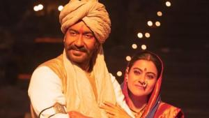 Kajol and Ajay Devgn in their get-up for Tanhaji The Unsung Warrior.