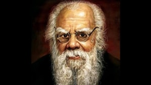 After BJP posted a tweet denigrating rationalist social reformer 'Periyar' EV Ramasamy over his second marriage with a woman, who was much younger than him, it found itself on the firing line of allies and opponents alike.(Twitter/@Learnedpolitics)