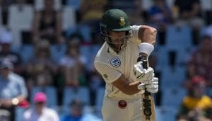 South Africa's batsman Aiden Markram plays a delivery from England's bowler Stuart Broad(AP)