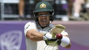 Australia's Tim Paine bats against New Zealand during play.(AP)