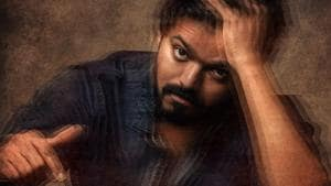 Vijay on the poster of Master.
