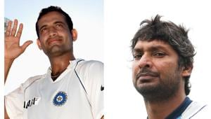 Irfan Pathan(L), Kumar Sangakkara(R)(HT Collage)