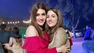 Kriti Sanon and her sister Nupur Sanon had a whale of a time at a friend's wedding.
