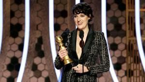 Phoebe Waller-Bridge accepts the award for Best Actress - TV Series, Musical or Comedy for Fleabag.(REUTERS)