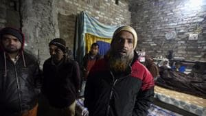 Arshad Hussain, the father of 22-year-old Anas seen at his residence in Bijnor.(Photo: Biplov Bhuyan/ Hindustan Times)