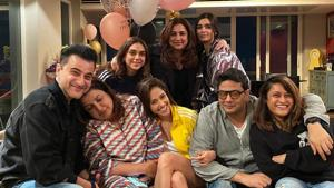 Farah Khan celebrates her birthday with her friends from Bollywood.