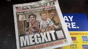 Prince Harry and his wife, Meghan, are characterized on the New York Post. In a statement the couple said they are planning