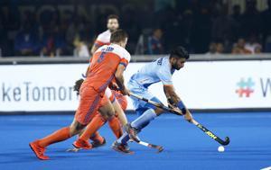File photo of India vs Netherlands match.(Hockey India)