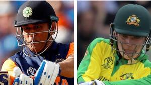 MS Dhoni and Alex Carey.(HT Collage)
