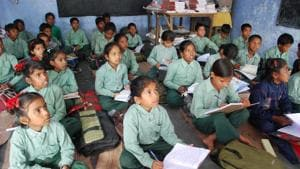 More girls are enrolled in government pre-schools and schools and more boys are enrolled in private LKG/UKG and private schools.(HT file)