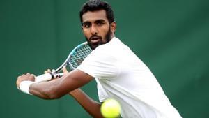 File image of Prajnesh Gunneswaran of India.(Getty Images)