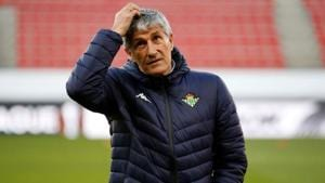 Quique Setien has been named as Barcelona's new manager.(REUTERS)