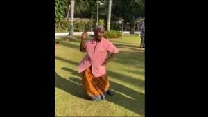 A video of an elderly woman swaying to a tune during Pongal celebrations, while a crowd cheers her on has taken social media by storm.(Twitter/@thekiranbedi)