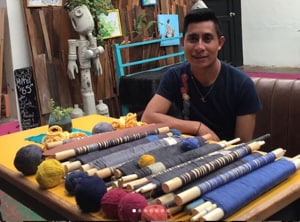 Rebel indigenous Mexican weaver Alberto Lopez talks to his threads
