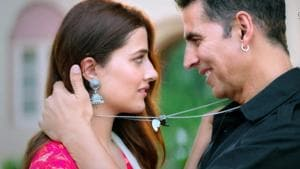 Akshay Kumar and Nupur Sanon in the music video, Filhall