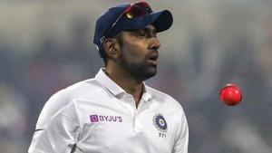 India's Ravichandran Ashwin tosses a pink ball.(AP)