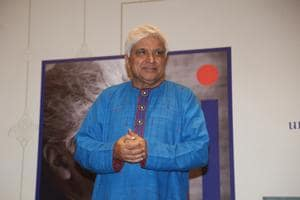 Poet, lyricist and screenwriter Javed Akhtar during an exhibition curated by photojournalist Pradeep Chandra and film historian SMM Ausaja on his birthday in Mumbai on Jan 15, 2020.(IANS)