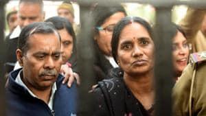 Badrinath Singh and Asha Devi, parents of the December 2012 gang rape case victim.(Amal KS/HT File PHOTO)