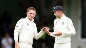 England's Dom Bess and Joe Root.(REUTERS)