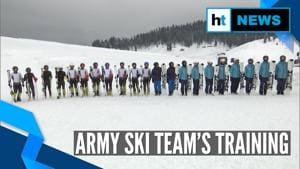 Watch: Indian Army's team train at high altitude ahead of National Ski competition