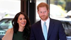 """Buckingham Palace says Prince Harry and his wife, Meghan, will no longer use the titles """"royal highness""""(REUTERS)"""