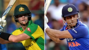 India vs Australia: 'MS Dhoni would surely be very proud' - Steve Smith plays helicopter shot during Bengaluru ODI - Watch