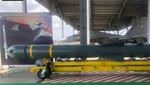 The SU-30MKI fighters in Thanjavur are being equipped with the air launched version of the BrahMos supersonic cruise missiles which can hit targets at around 300 kms with precision.(ANI / Twitter)