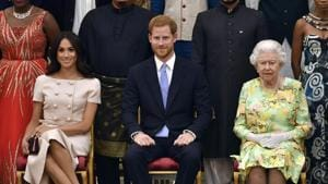 Britain's Prince Harry said on Sunday it brought him great sadness that he had to leave his royal duties(AP)