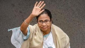 Kolkata: TMC Supremo and West Bengal Chief Minister Mamata Banerjee waves while leading a protest rally against the amended Citizenship Act and NRC, in Kolkata, Thursday, Dec. 26, 2019. (PTI Photo/Swapan Mahapatra) (PTI12_26_2019_000071A)(PTI)