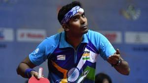 File image of India paddler Sharath Kamal Achanta.(Getty Images)