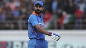 Virat Kohli walks back to pavilion after being dismissed.(AP)