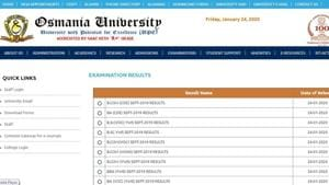 Osmania University has declared the results for various undergraduate exams that were conducted in September.(osmania.ac.in)