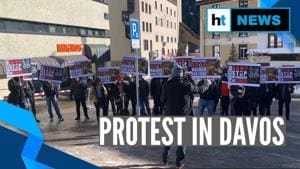 Watch: Protests against Pakistan in Davos against atrocities in Baloch, Sindh