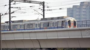 Services of Delhi Metro will be restricted partially on Sunday.(Sakib Ali / Hindustan Times)