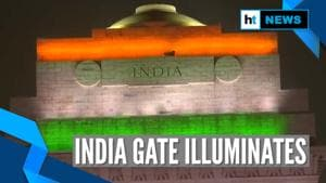 Watch: India Gate illuminates in tricolour on Republic Day eve