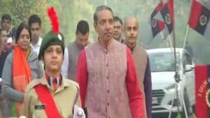 JNU's first girls NCC battalion present guard of honour to VC on Republic Day