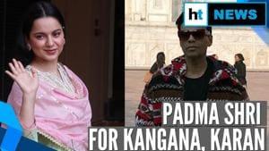 Watch: Kangana Ranaut & Karan Johar's reaction to Padma Shri honour