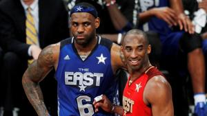 A file photo of LeBron James and Kobe Bryant.(REUTERS)