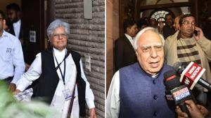 Jaising and Sibal have refuted the charges claims by Enforcement Directorate of taking money from PFI.(Photo: Hindustan Times)