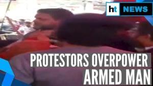 Watch: Man brandishes gun at Delhi's Shaheen Bagh anti-CAA protest site