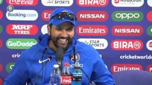 Rohit Sharma interacts with the media (File)(Twitter)