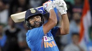 India's Rohit Sharma hitting the victorious six in the 3rd T20 against New Zealand in a super over at Seddon Park in Hamilton on Wednesday.(ANI Photo)