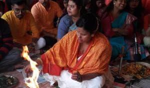 OBC woman performs Saraswati puja in college run by Muslims in Bengal's Malda