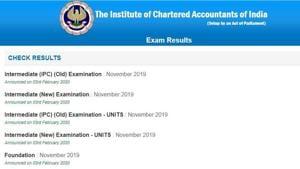 ICAI CA foundation, intermediate results 2019. (Screengrab)