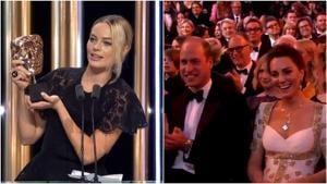 Margot Robbie accepted the award on Brad Pitt's behalf at BAFTAs.
